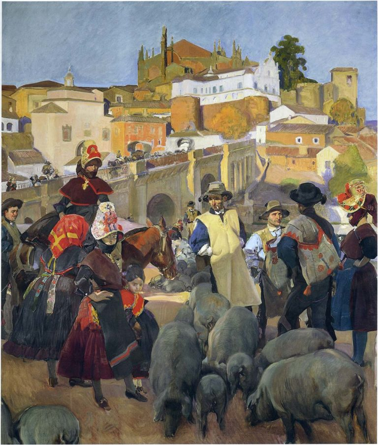 The Market | Joaquin Sorolla y Bastida | oil painting
