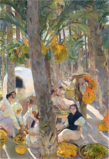 The Palm Grove | Joaquin Sorolla y Bastida | oil painting