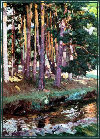 The river la Reina Valsain | Joaquin Sorolla y Bastida | oil painting