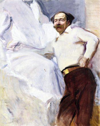 The Sculptor Mariano Benlliure | Joaquin Sorolla y Bastida | oil painting
