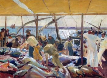 The Tunny Catch | Joaquin Sorolla y Bastida | oil painting