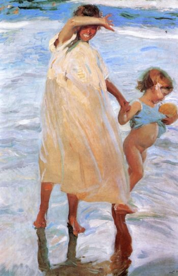 The Two Sisters | Joaquin Sorolla y Bastida | oil painting