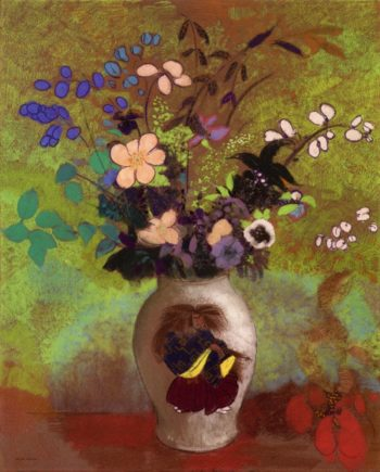 Vase with Japanese Warrior | Odilon Redon | oil painting