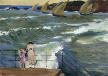The Waves at San Sebastian | Joaquin Sorolla y Bastida | oil painting