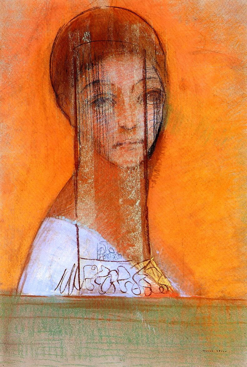 Veiled Woman | Odilon Redon | oil painting