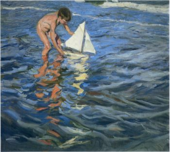 The Young Yachtsman | Joaquin Sorolla y Bastida | oil painting