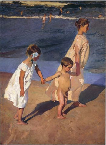 To the Water Valencia | Joaquin Sorolla y Bastida | oil painting