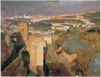 Tower of Seven pont Alhambra Granada | Joaquin Sorolla y Bastida | oil painting
