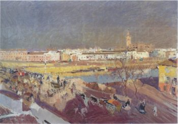 Triana bridge Seville | Joaquin Sorolla y Bastida | oil painting