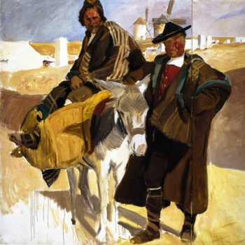 Types of La Mancha The White Donkey | Joaquin Sorolla y Bastida | oil painting