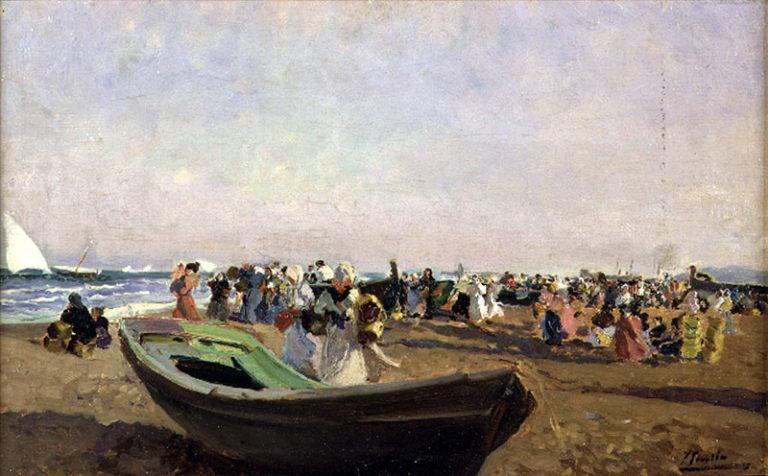 Valencia Beach Fisherwomen | Joaquin Sorolla y Bastida | oil painting