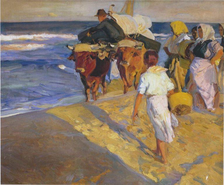 Valencia beach | Joaquin Sorolla y Bastida | oil painting