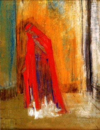 Woman in Red | Odilon Redon | oil painting