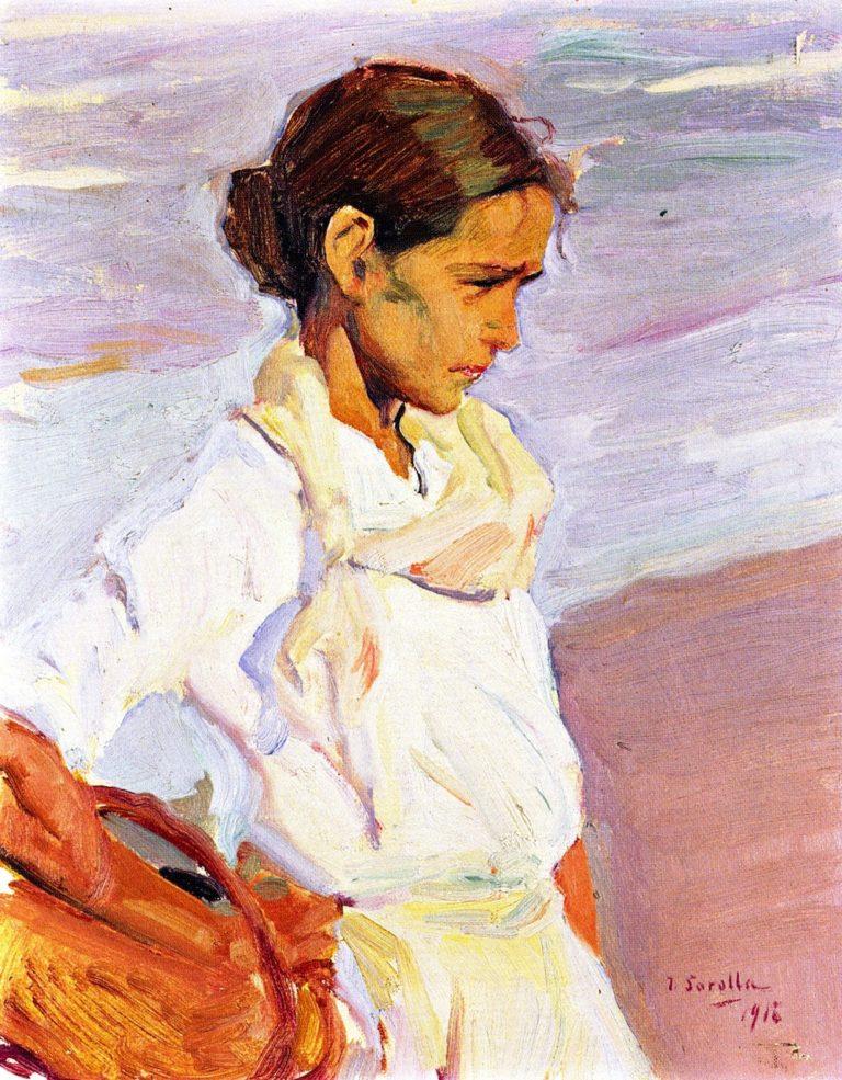 Valencian Fisherwoman | Joaquin Sorolla y Bastida | oil painting