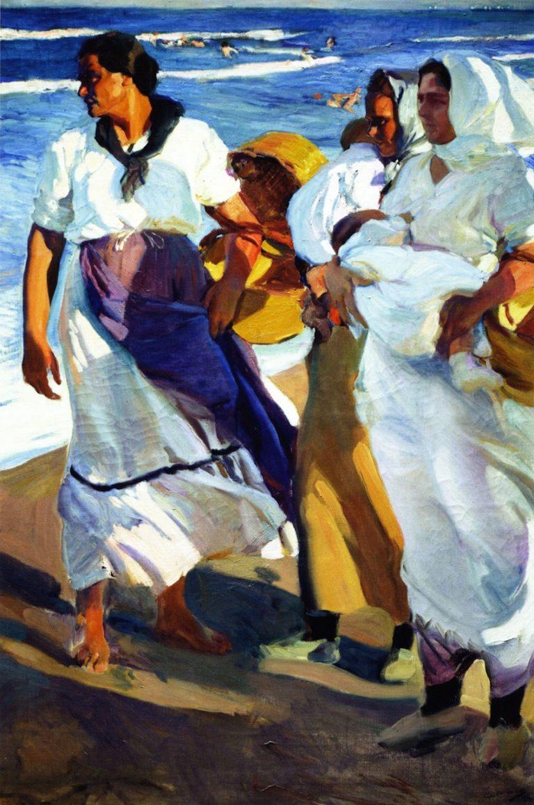 Valencian Fisherwomen | Joaquin Sorolla y Bastida | oil painting