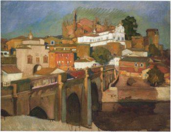 View of Plascencia | Joaquin Sorolla y Bastida | oil painting
