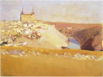 View of Toledo | Joaquin Sorolla y Bastida | oil painting