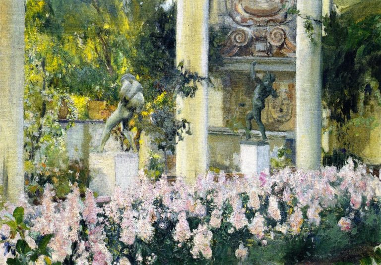 Wallflowers in the Garden of the Sololla House | Joaquin Sorolla y Bastida | oil painting