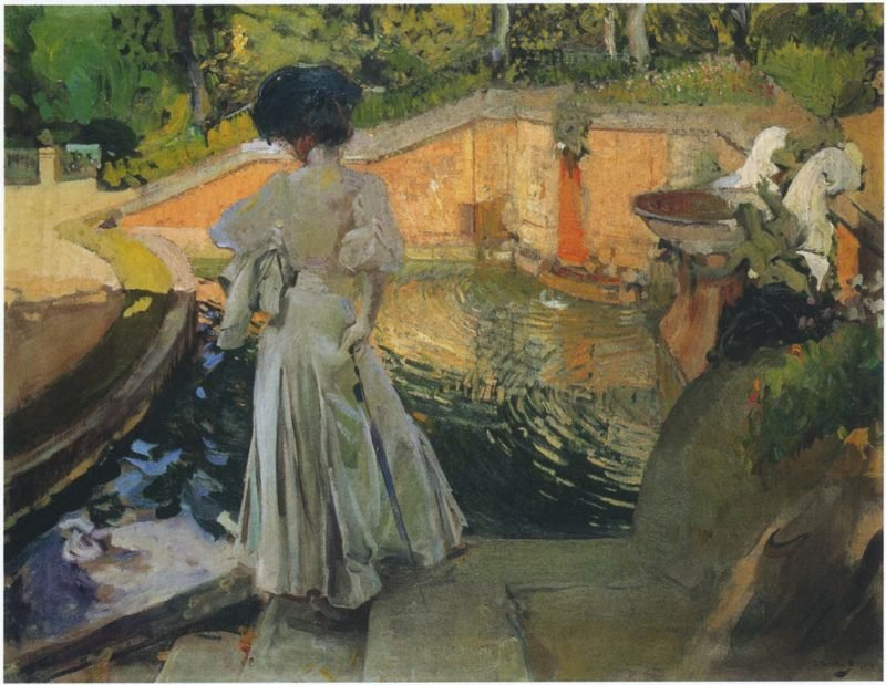 Watching the Fish | Joaquin Sorolla y Bastida | oil painting