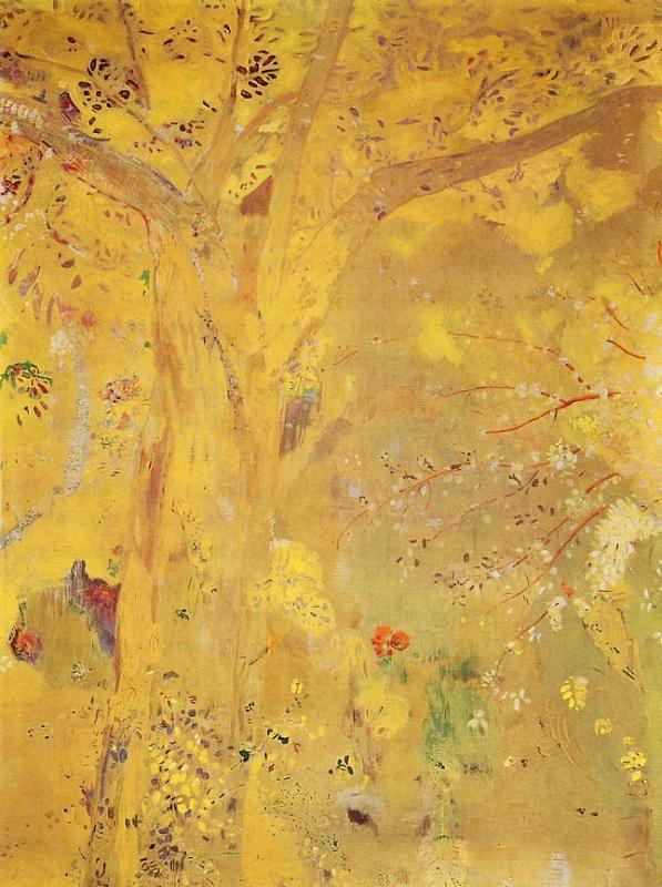 Yellow Tree | Odilon Redon | oil painting
