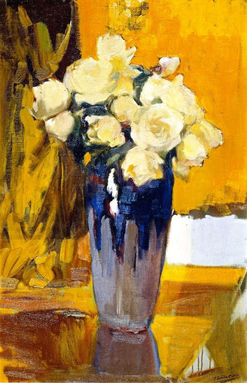 White Roses from the Garden of My House | Joaquin Sorolla y Bastida | oil painting
