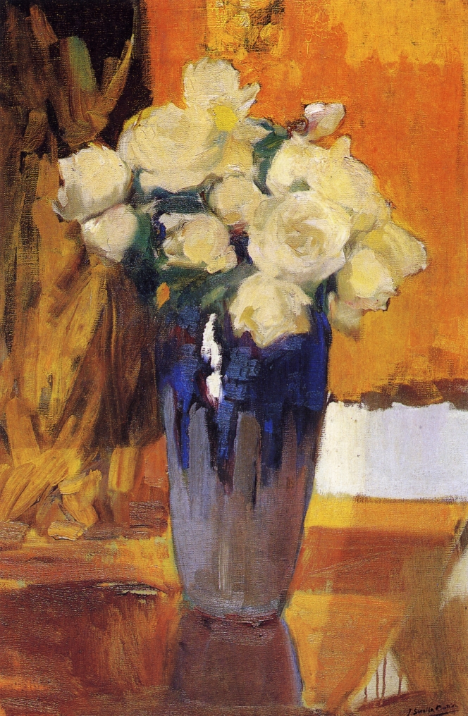 White Roses from the House Garden | Joaquin Sorolla y Bastida | oil painting