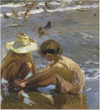 Wounded foot | Joaquin Sorolla y Bastida | oil painting