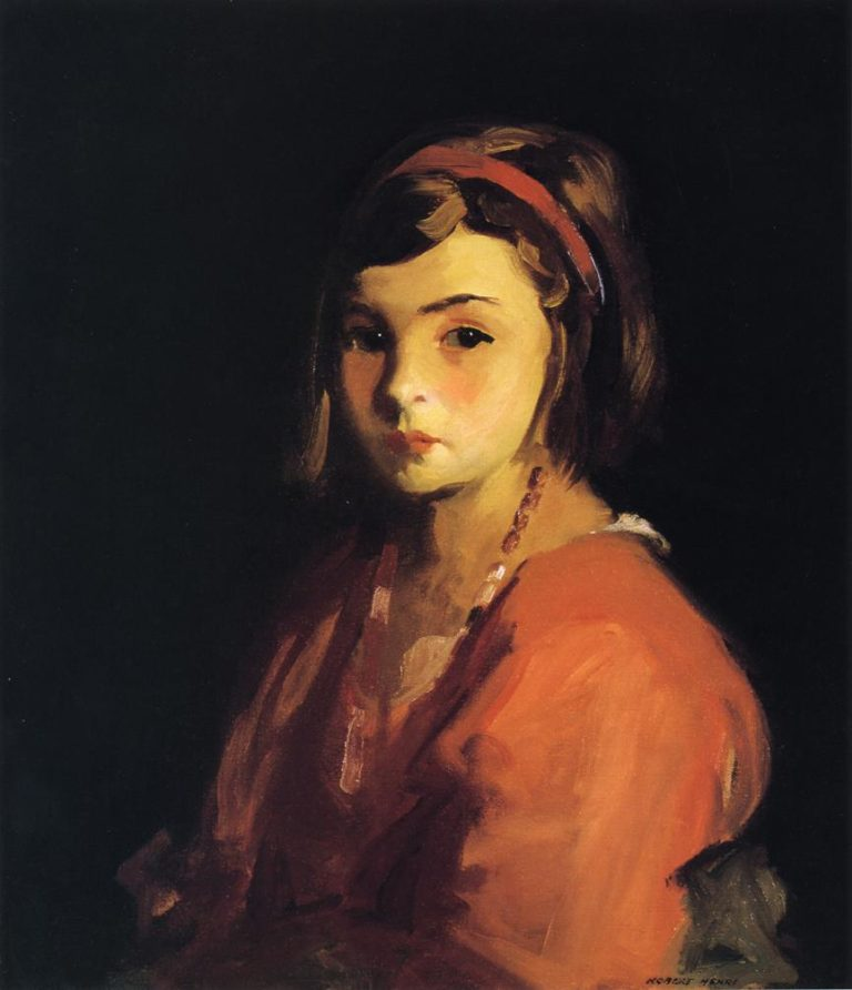 Agnes in Red | Robert Henri | oil painting