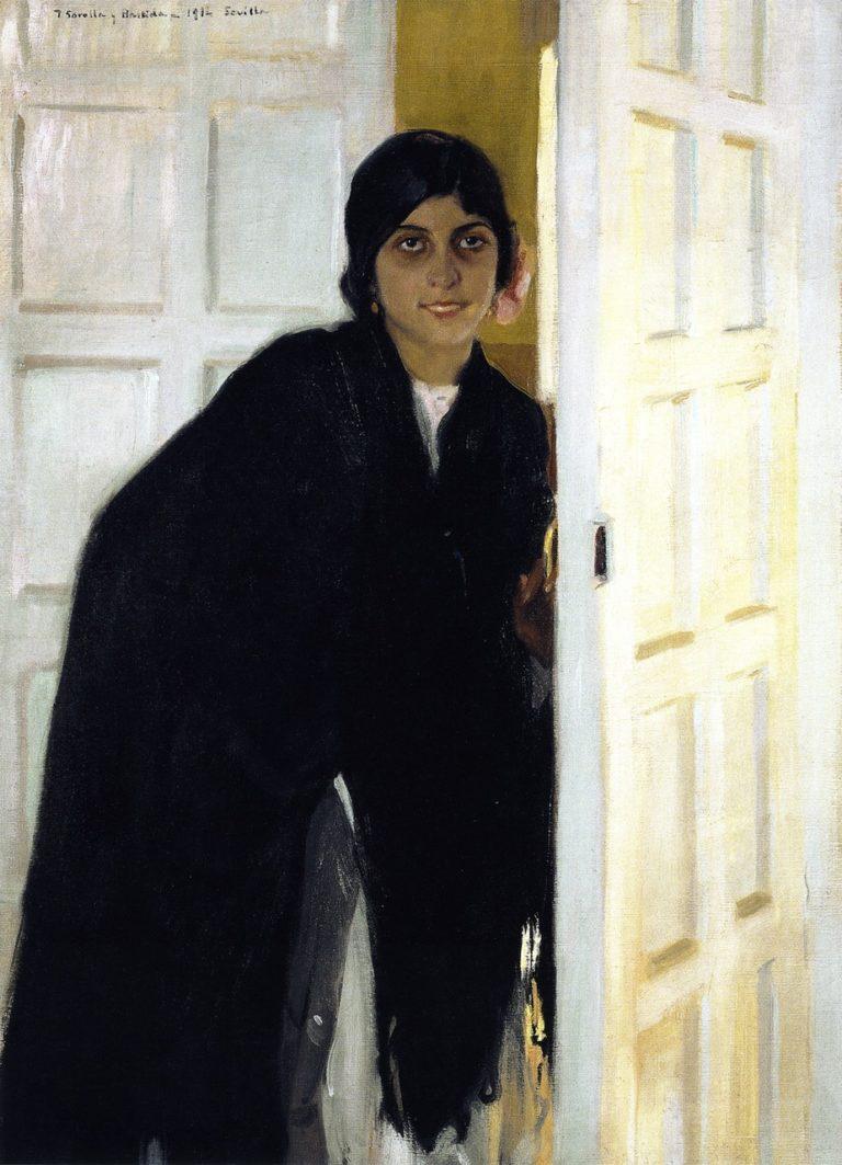 Young Andalusian Girl | Joaquin Sorolla y Bastida | oil painting