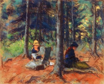 Artists in the Woods | Robert Henri | oil painting