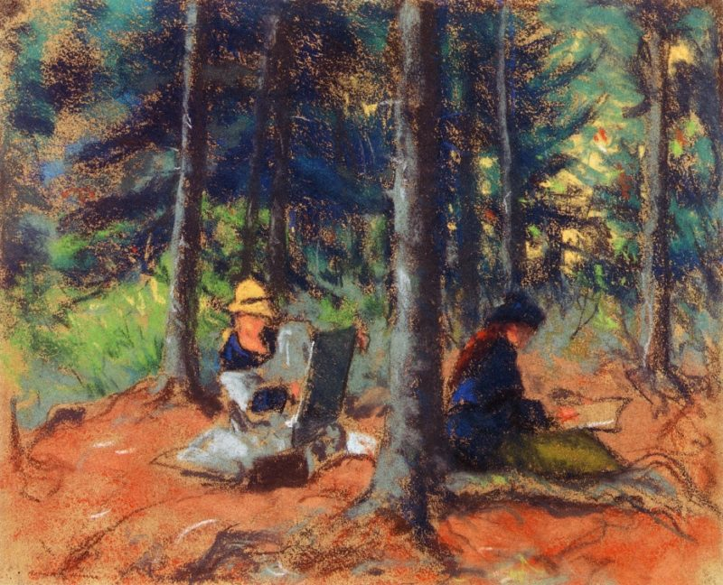 Artists in the Woods   Robert Henri   oil painting