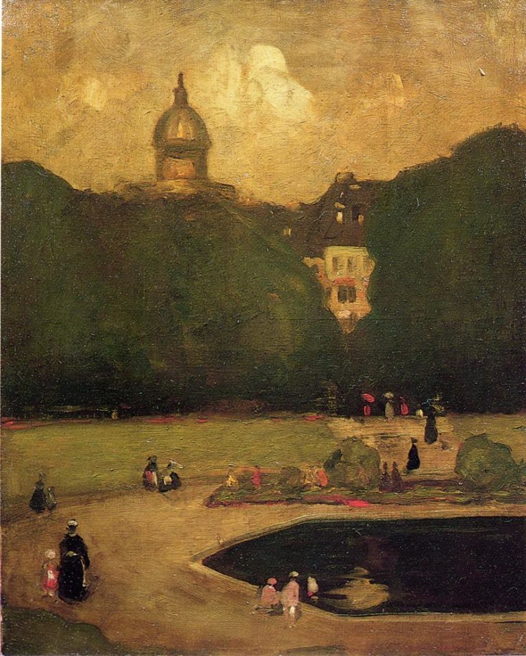 Au Jardin du Luxembourg   Robert Henri   oil painting