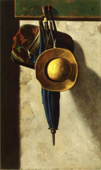 Carpetbag Hat and Umbrella | John Frederick Peto | oil painting