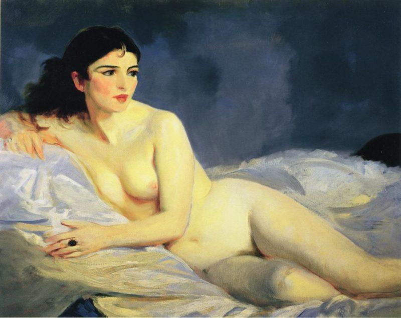 Betalo Nude   Robert Henri   oil painting