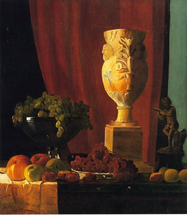 Fruit Vase and Statuette | John Frederick Peto | oil painting