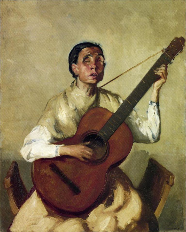 Blind Spanish Singer | Robert Henri | oil painting