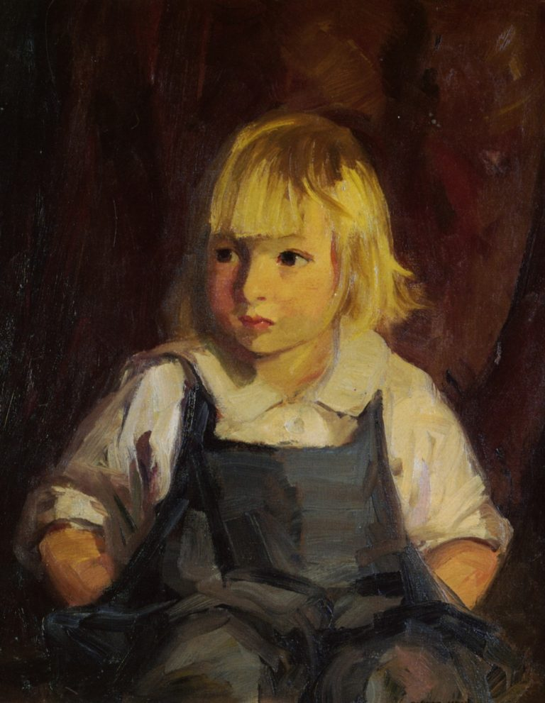 Boy in Blue Overalls | Robert Henri | oil painting