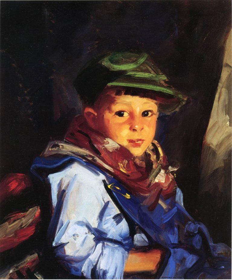 Boy with a Green Cap | Robert Henri | oil painting