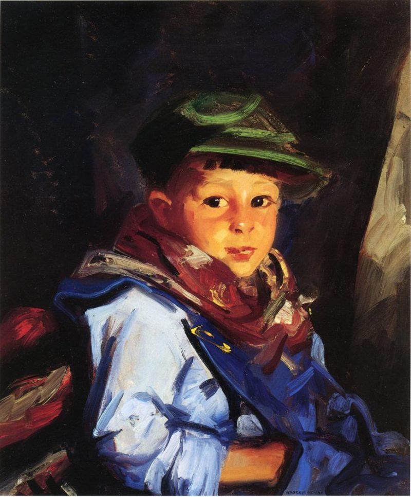Boy with a Green Cap   Robert Henri   oil painting