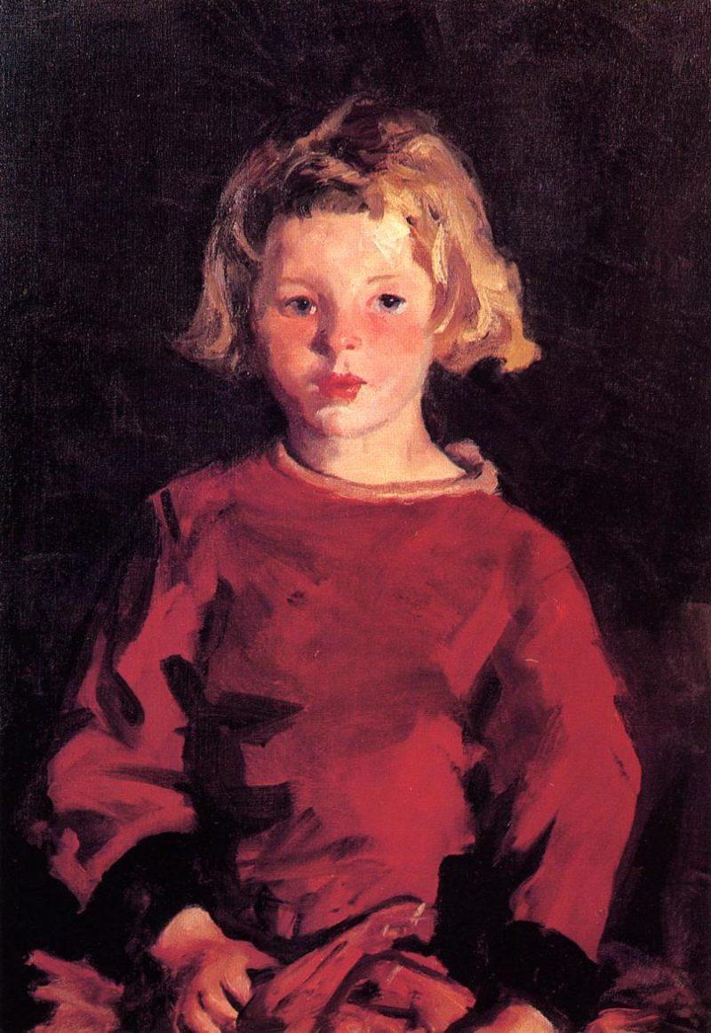Bridget in Red | Robert Henri | oil painting