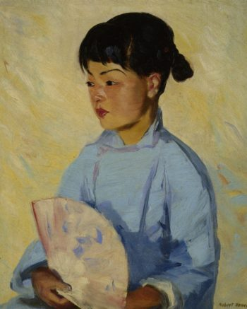 Chinese Girl with Fan | Robert Henri | oil painting
