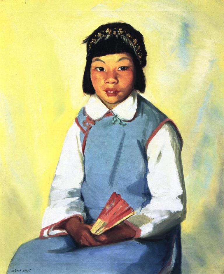 Chow Choy   Robert Henri   oil painting