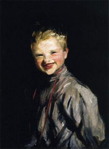 Cori Laughing | Robert Henri | oil painting