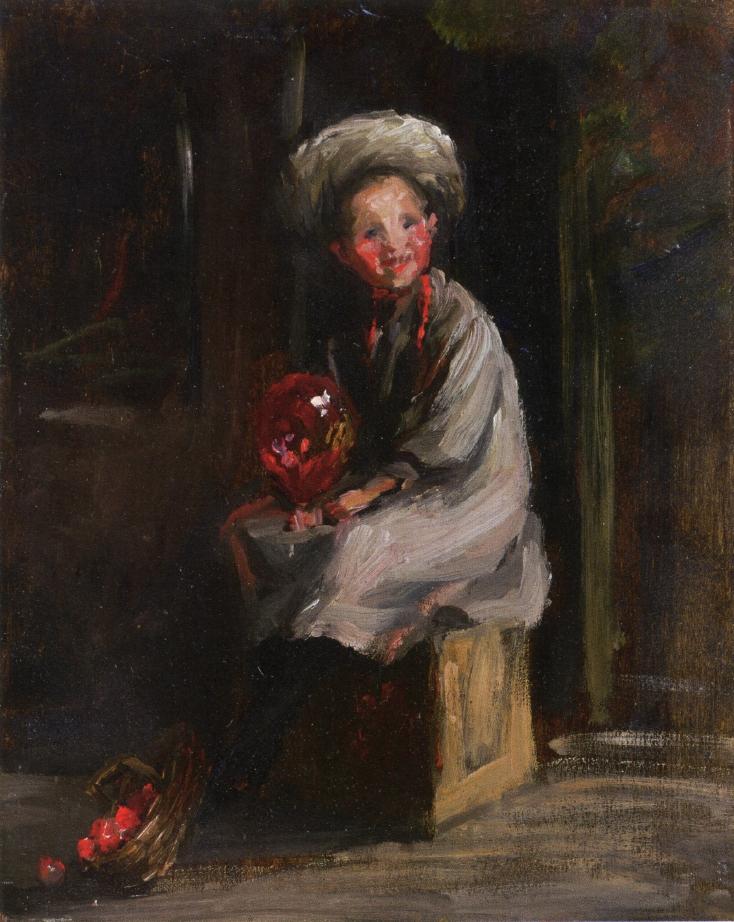 Cori with a Balloon | Robert Henri | oil painting