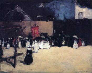 Fete du Dieu Concarneau | Robert Henri | oil painting