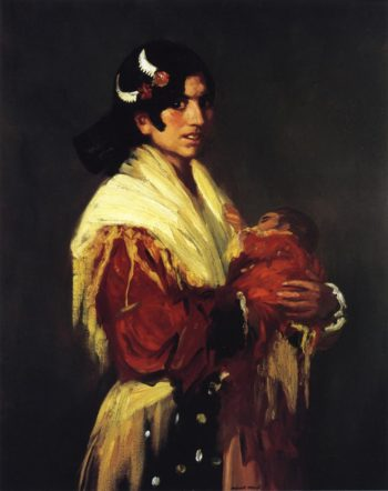 Gypsy Mother | Robert Henri | oil painting