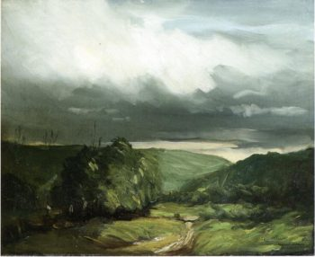 In the Wyoming Valley   Robert Henri   oil painting