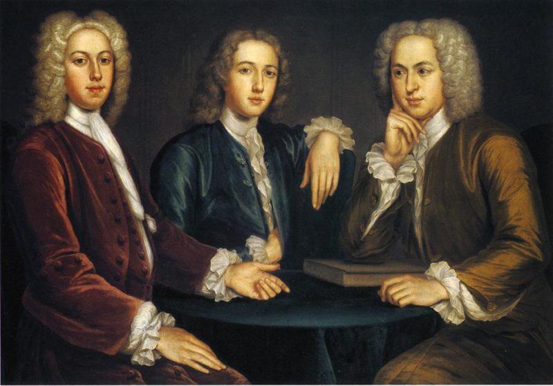 Daniel Peter and Andrew Oliver | John Smibert | oil painting