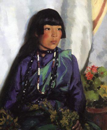 Julianita Ready for the Dance | Robert Henri | oil painting