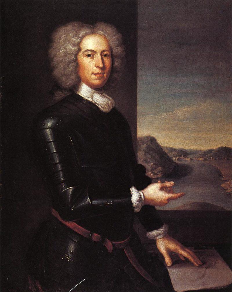 Major Jean Paul Mascarene   John Smibert   oil painting